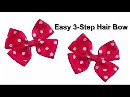 different types of hair bows easy 3 step no sew diy hair bow tutorial