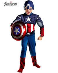 Avengers Halloween Costume Boys Captain America Avengers Classic Muscle Costume Boys