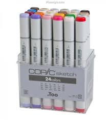 copic sketch markers 24 color set basic set manga tools
