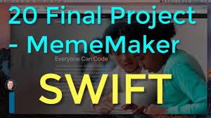Meme Maker Apps - 20 final project mememaker intro to app development with swift