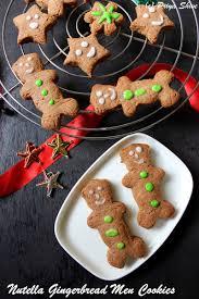 eggless nutella gingerbread men cookies