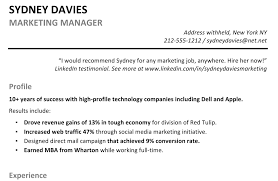 example of a resume profile magnificent lofty ideas registered