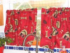 tropical cafe tier curtains ebay
