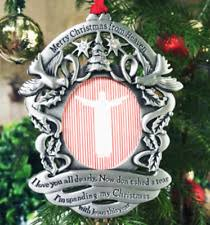 merry christmas from heaven merry christmas from heaven photo ornament loved ones tree
