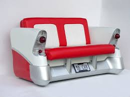 unique couches for sale with red and white car design for couches