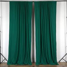 10ft hunter green polyester fire retardant curtain stage backdrop