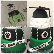 graduation cake with cap topper photo tutorial en mi casita