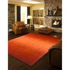 Burnt Orange Rugs Mad For Mid Century Orange Rug For A Mid Century Ranch