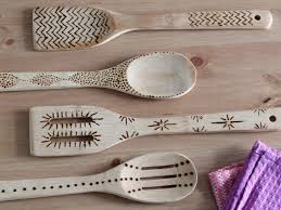 diy wood burned kitchen utensils hgtv