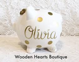 personalized piggy bank etsy