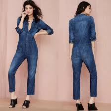 sleeve denim jumpsuit jumpsuit 2015 macacao feminino one denim