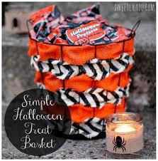 simple diy halloween treat basket diy halloween treats simple