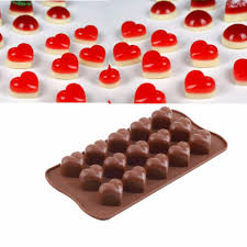 preup 3d silicon love heart molds ice cube chocolate fondant cake
