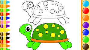 how to draw cartoon turtle w coloring pages u0026 painting books