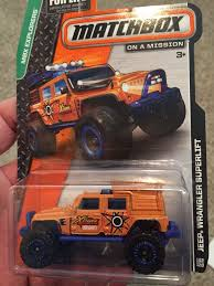 jeep matchbox jeep wrangler superlift toy car die cast and wheels