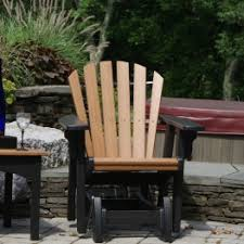 Outdoor Single Glider Chair Buy Polywood Adirondack Gliders Furniture Premium Poly Patios