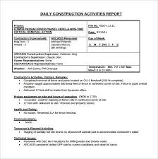 daily site report template daily construction report template 30 free word pdf documents