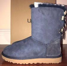 womens navy boots australia ugg australia bailey bow stripe navy blue fur boots womens 10 ebay