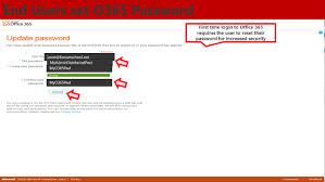 reset microsoft online services password microsoft office 365 for education ppt download