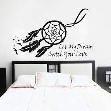 Bedroom Wall Graphic Design Mairgwall Dream Catcher Wall Decal Native American Feathers