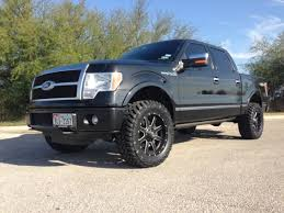 ford f150 platinum wheels get lifted with this ford f150 and its fuel wheels wheelhero
