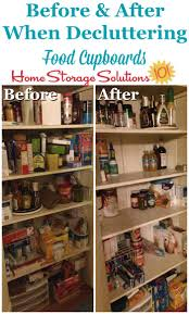 how to store food in a cupboard how to declutter food cupboards food storage areas
