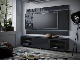 Black Gloss Living Room Furniture Lincoln Floating Wall Tv Panel 2 2 With Led Lights In Black Gloss