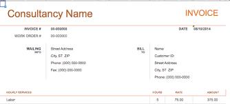 consultant invoice template invoice example