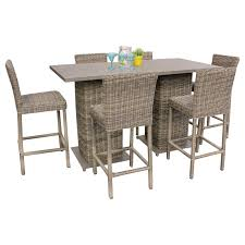 Patio Furniture Bar Set - tk classics cape cod pub table set with barstools 5 piece