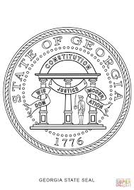 Ga State Flags Coloring Georgia State Flag Coloring Page