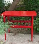 Zen Accent Table asian modern painted furniture by poppycottage