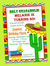 birthday invites unique fiesta birthday invitations design ideas