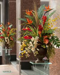 home decor flower decoration entry design with faux floral arrangements and