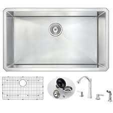 Kitchen Sink And Faucet Sets by Anzzi Vanguard 32
