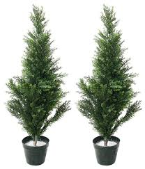 topiary trees artificial mini cedar topiary trees 34 set of 2 by garden