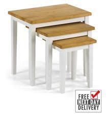 julian bowen coxmoor solid oak oak nest of tables ebay