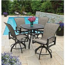 Outdoor Balcony Set by Homecrest Havenhill Sling Balcony Set With Cast Table Furniture