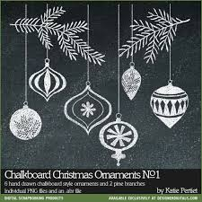 chalkboard ornaments brushes and sts no 01