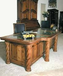 Big Office Desks Custom Office Furniture Desk For Luxury Solid Wood Real Desks