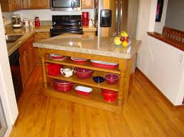 Movable Island Kitchen Furniture Kitchen Granite Top And Rustic Brown Wooden