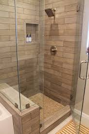 Bathroom Tile Shower Pictures Faux Wood Tile In Modern Shower Contemporary Bathroom Los