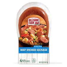 hillshire farm summer sausage hillshire farm beef smoked sausage 12 oz pkg 4 ct sam s club