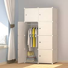 clothes cupboard amazon com megafuture wood pattern portable wardrobe for hanging