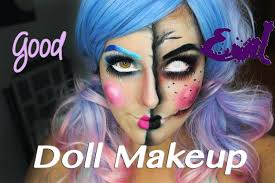 good evil doll makeup tutorial youtube