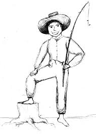 huck finn costume sketch big river project pinterest