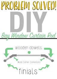 Bay Window Curtain Rod Diy Bay Window Curtain Rod All Things Thrifty