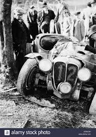 crash of the le mans 24 hours winner at spa belgium 1938 stock