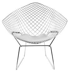 White Wire Chair Bertoia Diamond Wire Chair The Natural Furniture Company Ltd