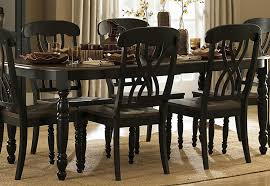 Cherry Dining Room Tables Homelegance Ohana Dining Table In Antique Black Warm Cherry 1393bk