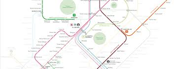 Singapore Subway Map by Kuala Lumpur Train Mrt Lrt Monorail Map